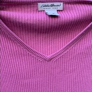 Eddie Bauer Sweaters - Eddie Bauer Rose sweater size medium